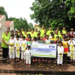 Otis employees with the children from SOS villages